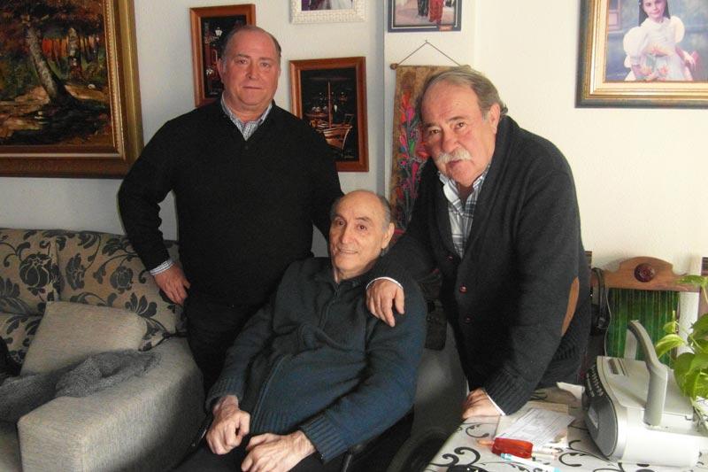 Nuestro presidente, Juan Ganuza e Ignacio Usechi con Ciriaco